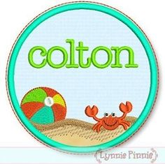 Beach Frame Applique - 4 Sizes! | Font Frames | Machine Embroidery Designs | SWAKembroidery.com Lynnie Pinnie