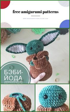 Amigurumi Baby Yoda Free Crochet Pattern - Amigurumi Patterns Pic2re Double Crochet, Single Crochet, Crochet Patterns Amigurumi, Knitting Patterns, Free Crochet, Crochet Hats, Cotton Rope, Beige Color, Hand Knitting