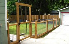 bullwire fence for garden I would prefer the entrance to be arched, little softer looking, but like this alot.