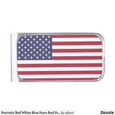 Red White Blue, Pink And Green, Custom Money Clips, 4th Of July Parade, 4th Of July Outfits, Money Clip Wallet, Usa Flag, Gifts For Father, Fun To Be One