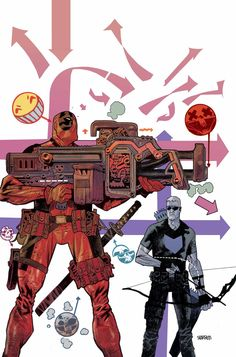 HAWKEYE VS. DEADPOOL #1 (of 4) GERRY DUGGAN (W) • MATTEO LOLLI (A) Cover by JAMES HARREN VARIANT COVER BY Jason Pearson • Trick or treat! It's Halloween in Brooklyn, and that can only mean one thing -- disaster is right around the corner! 32 PGS./Rated T+ …$3.99