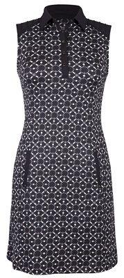 """Blue Skies Tail Ladies Cecelia 36.5"""" Chain Pearls Print Black Golf Dress at #lorisgolfshoppe"""
