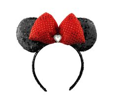 Minnie+Mouse+Ears+Sequin+Disney+Ears+Red+Sequin+by+JuicyBows