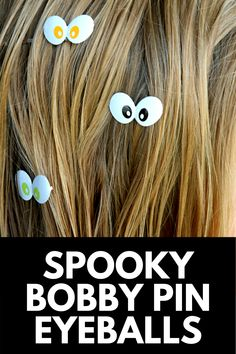 These super cute and creepy Bobby Pin Eyeballs are the perfect DIY accessory for a kid's costume, or just to get them in the Halloween spirit! Get the full tutorial at MomDot.com! Spirit Halloween, Halloween Themes, Harvest Season, Fall Diy, Samhain, Bobby Pins, Creepy, Diy Crafts, Costume