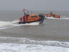 Lowestoft lifeboats playing nice!