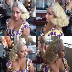 coiffure pin up avec ornement