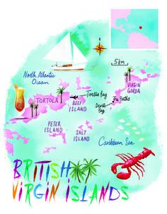 British Virgin Islands map by Scott jessop, April 2016 issue