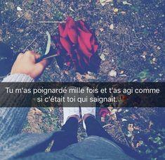 Message Snapchat, Beautiful Sad Quotes, Citations Photo, Bad Quotes, Citation Rap, Mantra, French Quotes, Love, Real Talk