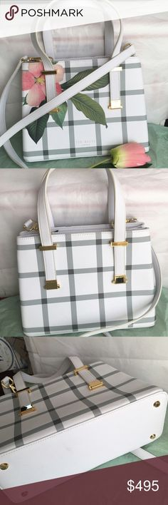 Ted Baker spring bagNWT Gorgeous 10 bakery spring bag beautiful spring colors as gold hardware two large pockets with magnetized snap closures one  inside zipper pocket 2 inside slit  pockets Ted baker Bags Crossbody Bags