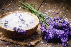 Lavender Honey salt scrub. This book is awesome! It has this one and 50+ other natural beauty recipes.
