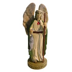 The Archangel Bearer of God's Divine Healing. Your personal Archangel will cast a protective aura about you and surround you with angelic love. St Raphael, Angel Statues, Archangel, Saints, It Cast, Healing, Princess Zelda, Fictional Characters, Art
