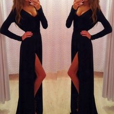 How to Chic: BLACK MAXI DRESS