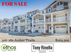 Enjoy LIFE at Amber Trails 2 bdrm Condo w/ Garage!  https://youtu.be/tS6igfVH3nE   This is the one you have been waiting for! Immaculate and meticulously maintained 2 bedroom LIFE TOWNHOUSE that looks LIKE NEW! Only 2 years young and features a sought after drive under garage, upgraded island kitchen with upgraded cabinetry with subway back splash tiles, an optional 1/2 bath and laundry room, plus central air, and extra storage off the garage. The pictures say it all. Great location and move…