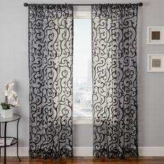 Softline Home Fashions 933AMALF Albury Window Curtain | ATG Stores