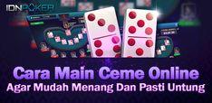 Ceme Online merupakan salah permainan judi kartu online yang banyak diminati oleh para bettors di Indonesia. Agar, Poker