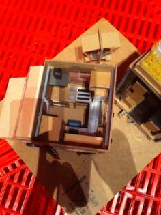 """Exposition """"ma cantine en ville"""" Cité de l'architecture 2013 - Maquette d'un des projets du concours Minimousse. (photo B. LE STRAT)"""