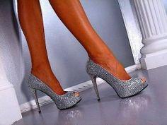 sexy heels | crystals, fashion, heels, high heels, hot - image #277496 on Favim.com