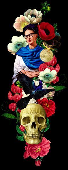 Mexique fonts by  Ismael Fino - Frida Khalo