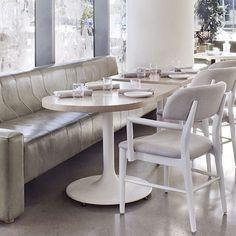 From morning to night, embrace the modern romance of Figo. Figo by Studio Munge, Toronto. Modern Romance, Dining Table, Banquettes, Interior Design, Studio, Toronto, Interiors, Inspiration, Furniture
