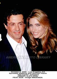 Get Carter premiere w/Jen Sly Stallone with wife