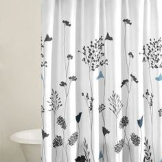 Perry Ellis Asian Lily White Shower Curtain Cotton ** Continue To The  Product At The Image Link.