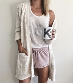 Cute Lounge Outfits, Lazy Day Outfits, Casual Outfits, Cute Outfits, Fashion Outfits, Pajama Outfits, School Outfits, Pajamas For Teens, Cute Pajamas