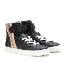 mytheresa.com - Baskets montantes en cuir - Luxe et Mode pour femme - Vêtements, chaussures et sacs de créateurs internationaux