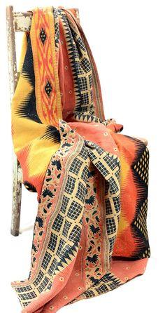 Nabhi Cotton Throw - Kantha Quilts - Temple & Webster presents