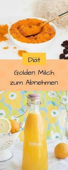 You want to lose weight with golden milk? No problem. I'll show you how easy it works. The vegan golden milk with turmeric is currently the trend drink. No wonder, it has low calories, tastes delicious and is incredibly healthy. Milk Recipes, Healthy Recipes, Smoothie Detox, Smoothies, Keeping Healthy, Calories, Detox Drinks, Health And Nutrition, Superfood
