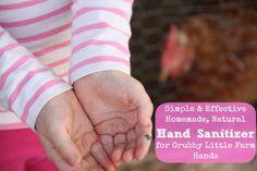Homemade Hand Sanitizer - All Natural - Five Little Homesteaders