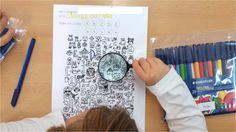 """Ya hemos empezado con los """"racons"""". Este año toca P5, así que podremos incrementar la dificultad de las actividades. Empezamos tranquilos, j... Detective, Alphabet Activities, Conte, Handwriting, School, Kids Corner, Reading Comprehension, Reading, Calligraphy"""