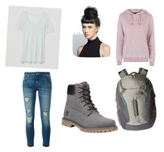 """Sam"" by kyleejones3632 ❤ liked on Polyvore featuring LOFT, MICHAEL Michael Kors, Timberland, Topshop and The North Face"