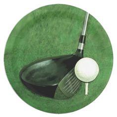 sc 1 st  Pinterest & Golf Ball Paper Plate | Golf