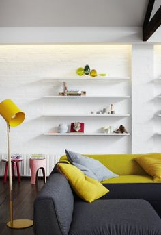 Floating shelves by Gordon Johnson. Photo by Sharyn Cairns, styling by Megan Morton.