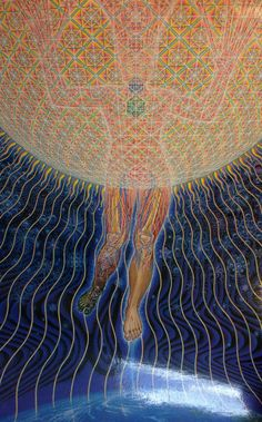 """The garden of the world has no limits, except in your mind."" Mawlānā Jalālad-Dīn Rumi ART by Alex Grey"