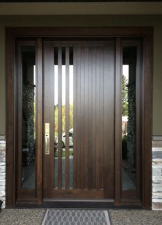 Checkout these modern front door ideas for your home. Thirty unbelievable front door ideas for your modern home. Feed your design ideas now. Wooden Front Doors, Modern Front Door, House Front Door, Glass Front Door, House Doors, Front Entry, Modern Fence, Modern Exterior Doors, Contemporary Front Doors