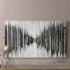 Oversized Abstract Wall Art - Black and White | Scenario Home