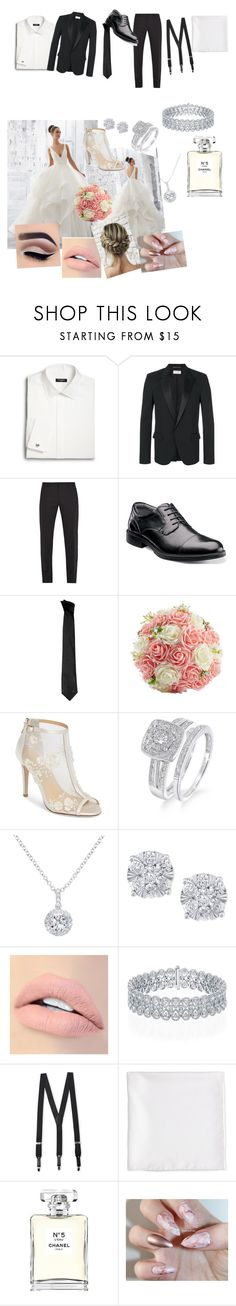 """wedding"" by janieblairunit ❤ liked on Polyvore featuring Milly, Saks Fifth Avenue, Yves Saint Laurent, Dolce&Gabbana, Florsheim, Versace, Bella Belle, EWA, Effy Jewelry and Jouer"