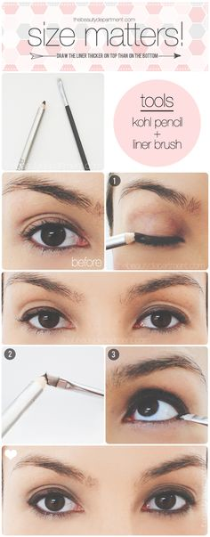 Define your eyes without making them look smaller!