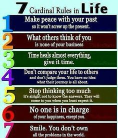 Cardinal rules in Life