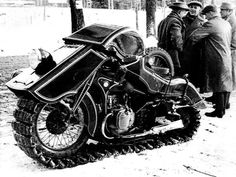 1936 BMW Schneekrad Snowmobile. A bike exclusively designed for Hells Frostbitten Angels.  :)