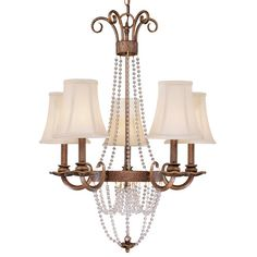 Found it at Wayfair - Grace 5 Light Shaded Chandelier