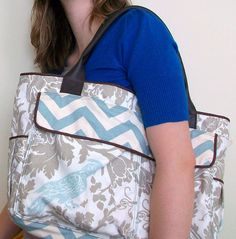 Imagine how many cans of soup you could fit in this! And no one on your walk home would be any the wiser… | 10 Diaper Bags That You'll Want To Make Even If You Don't Have Kids