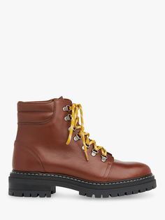 Whistles Amber Leather Lace Up Ankle Boots, Tan Lace Up Ankle Boots, Comfy Shoes, Leather And Lace, Hiking Boots, Amber, Whistles, Stylish, Brown, How To Wear