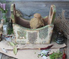 """Купить """"Пряные травы"""" подставка для специи - оливковый, коричневый, деревянный, натуральное дерево, кантри, прованс"""