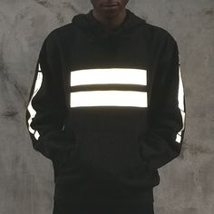 APP-005 EQUANIMITY hoodie in black reflective by Heisel - HEISEL