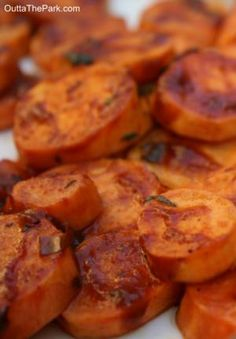 Oven-Baked BBQ Sweet Potatoes ~ with Rosemary & Sage | Outta the Park BBQ Sauce