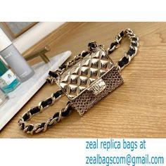 Chanel Tiny Belt Bag Metallic Gold 2021