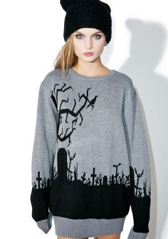 Current Mood Graveyard Riot Sweater