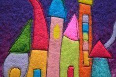 Feltastik is an artisan business created by Stephanie Tenier, a French Felt artist based in West Cork, Ireland. It is the home of many a Wool Fairies, Original Felt art, felting kits and in-person workshops. Nuno Felting, Needle Felting, Fabric Art, Fabric Crafts, Felt House, Felt Pictures, Felted Wool Crafts, Felt Fairy, Handmade Felt